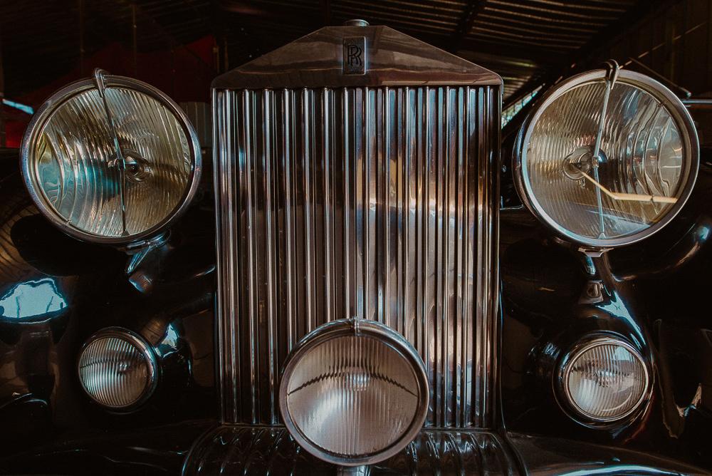 sesja ślubna stare samochody