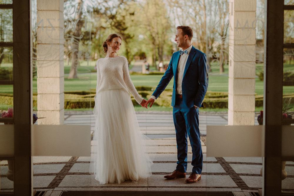 reportaż ślubny pałac romantyczny
