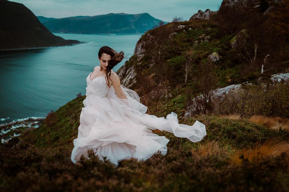 sesja ślubna fiordy