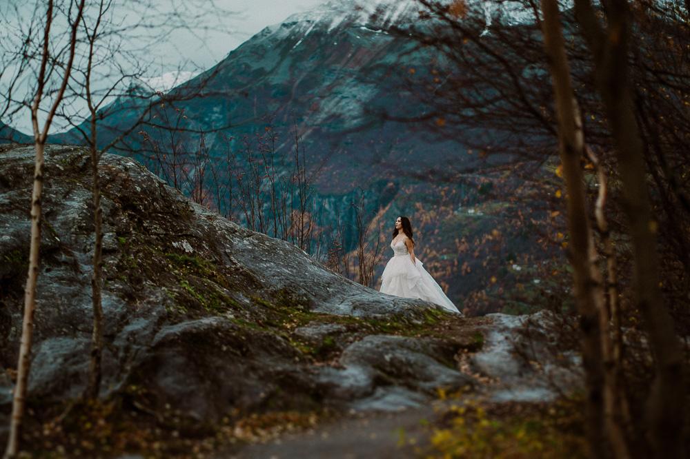 sesja ślubna geiranger